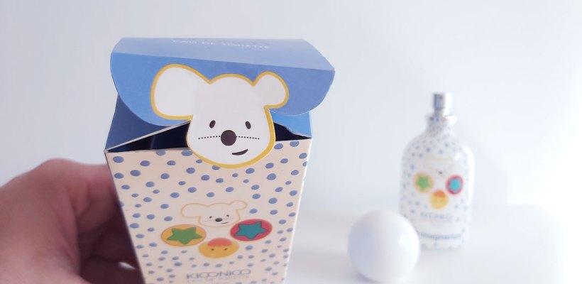Packaging Eau de Toilette Kiconico Imaginarium, detalle solapa