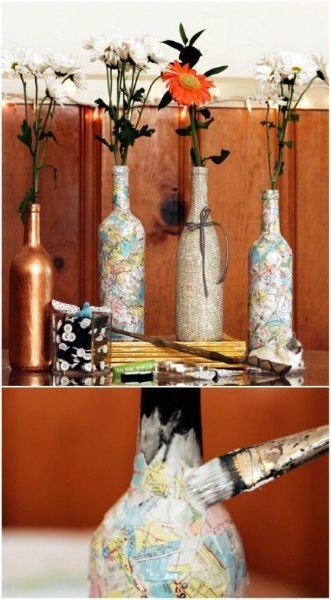 60 DIY Glass Bottle Craft Ideas For A Stylish Home Pink