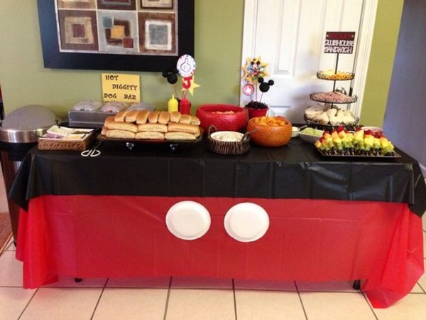 Mickey Mouse Party Table Setting Brokeasshomecom