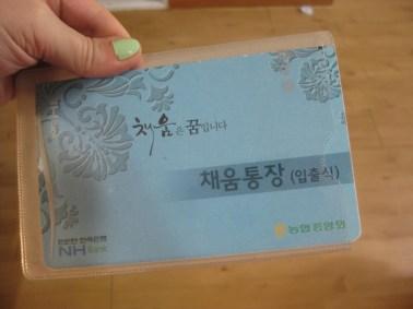Korean Bank Book Cover