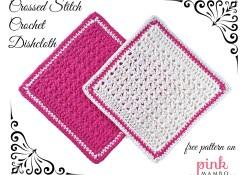 Crossed Stitch Crochet Dishcloth