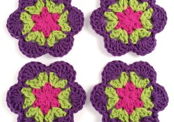 Crochet Tropical Coasters