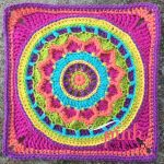 Dream Circle 12″ Crochet Square and Mandala