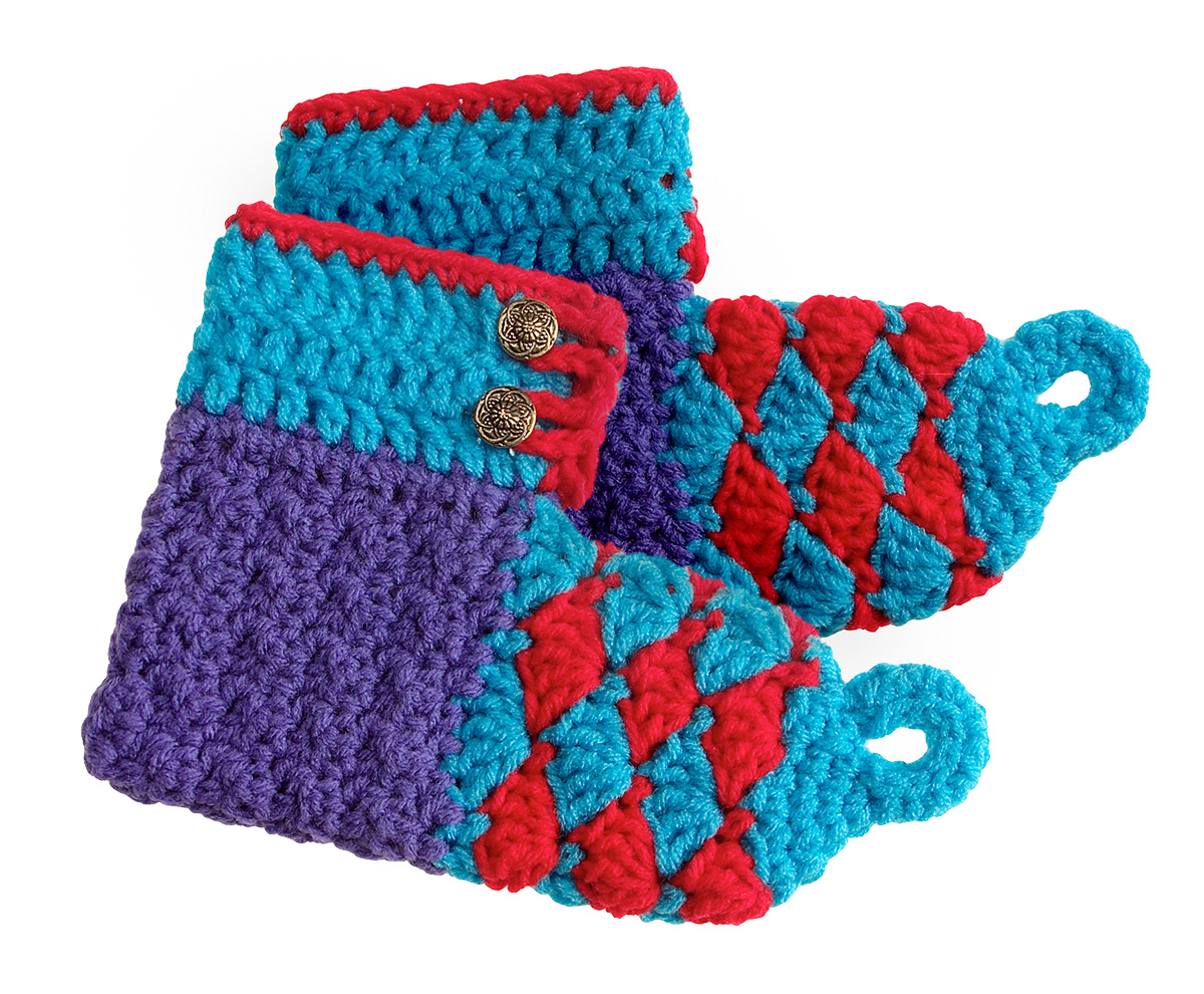 Crochet Youth and Adult Elf Boots Free Pattern - Pink Mambo