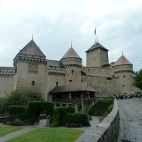 Mom, Chateau de Chillon and Evian-les-Bains