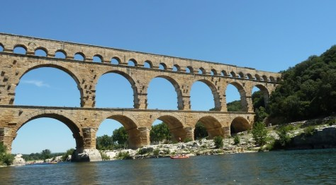 Pont du Gard from the Kayak