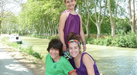 The happy cousins in France in 2013