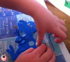 Fine Motor Skills With Dinosaur Craft on Pinkoddy