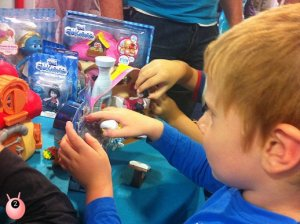 The boys got to watch the Smurfs2 and attend the JAKKS Pacific ToyLaunch