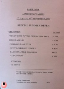dick whittington farm park prices