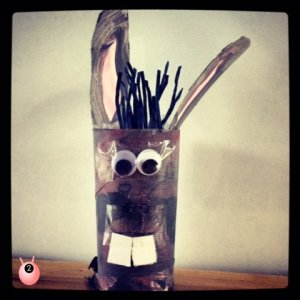 Donkey toilet roll holder craft