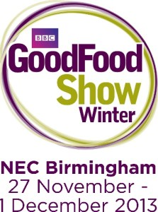 This winter (27th November-1st December 2013) saw Brian Turner, Frances Quinn, James Martin, Lisa Faulkner and Natalie Coleman opening the doors of the NEC for the 23rd year running of The BBC Good Food Show in Birmingham. The nation's biggest food event really had something for everyone, no matter their age, budget, or dietary requirements. Present were a selection of well-known brands, the opportunity to discover new local and regional produce of the finest quality, dining equipment, cooking accessories and appliances, demonstrations, live cooking (featuring over 50 chefs and experts), book signings, free samples, and Christmas decorations.  M&S Christmas Theatre  This beautifully set theatre was very festive and inviting. With a tasty sample as we waited for the live cooking to begin it also gave the opportunity to have a rest. There were tips on how to prepare for Christmas, how M&S can help, and of course a fantastic Christmas pudding alternative recipe.  The Great British Bake Off Village  Fans of the show The Great British Bake off were in for a treat with winners and contestants from the hit TV show baking their favourite dishes. This area was devoted to all things baking and also the opportunity for afternoon tea.  We did not visit The Supertheatre, (which was sponsored by Tesco finest*) where tickets could be purchased on the door for a standard seat, so missed James Martin, The Hairy Bikers, Paul Hollywood & Mary Berry.  The BBC Good Food Show Summer runs 12 – 15 June, NEC, Birmingham  Advance ticket prices start at £24.25 and please check the website for more details bbcgoodfoodshowsummer.com  The BBC Good Food Shows are organised and presented by River Street Events Ltd The GoodFood word mark and logo are trademarks of BBC Worldwide Limited. Copyright 2013 BBC Worldwide Limited   With an array of well-known brands, kitchen appliances and gadgets, a spread of the finest local and regional produce to shop from, and the best in live cooking, book signings,
