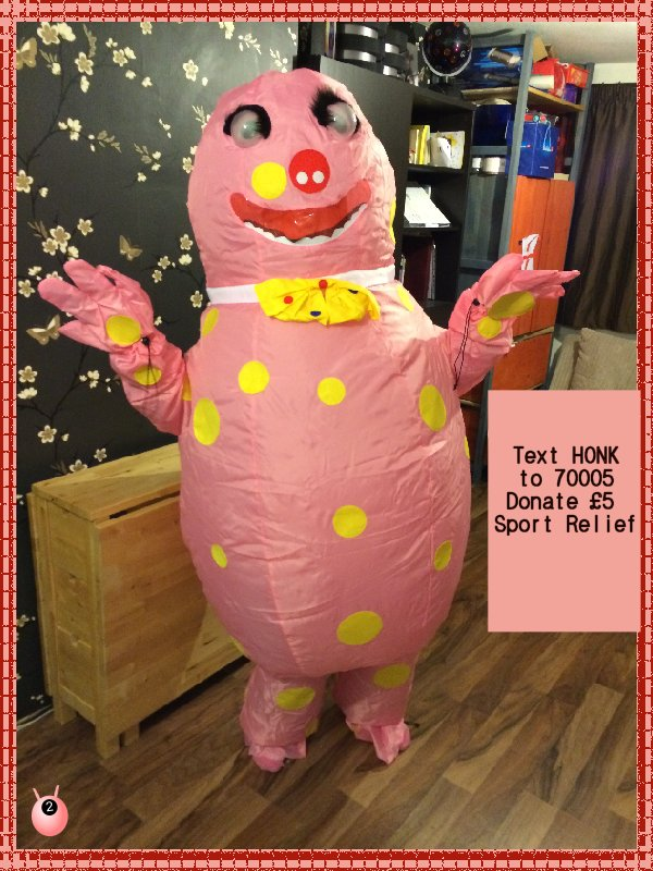 blobby sport relief relay
