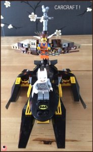 Emmet, Batman and the Getaway glider
