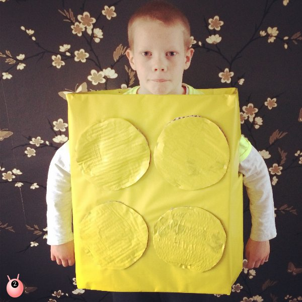 Lego Brick Costume for Big Yellow Friday