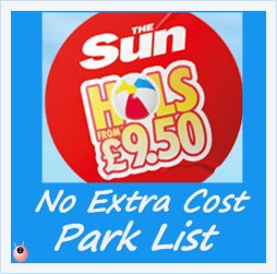 guaranteed £9.50 sun holidays UK parks and date list 2015
