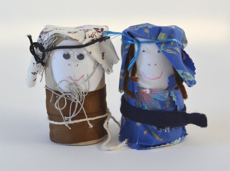 Mary and Joseph Christmas Craft