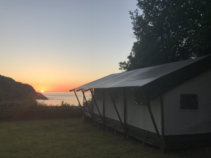 sunset safari tent