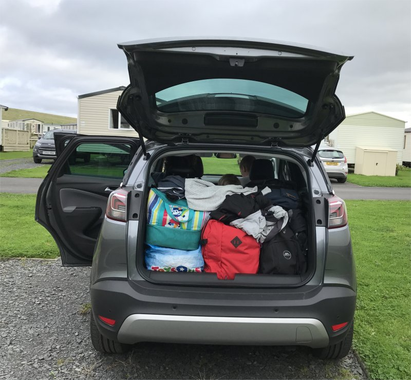 Vauxhall Crossland x packed boot