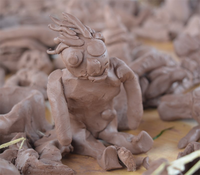 clay model of a man