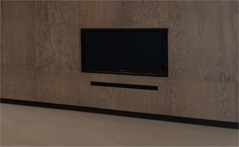 black skirting board and tv