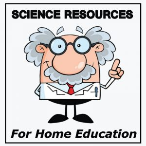 cartoon scientist and science resources for home education