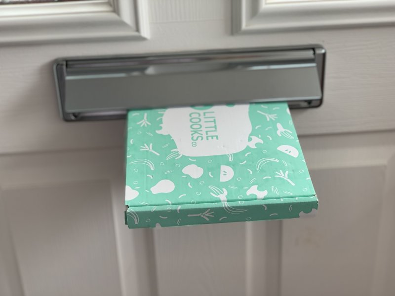 Little Cooks Co Subscription box coming through the letterbox