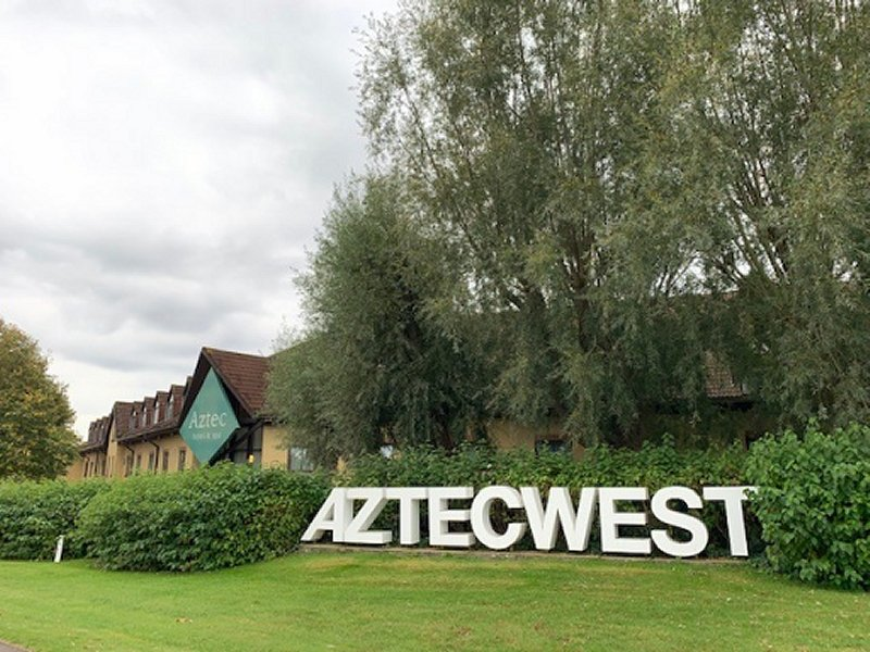 View outside of the AZTEC WEST HOTEL & SPA from the main roundabout