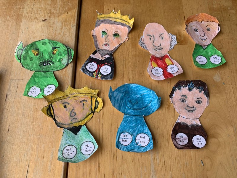Finger Puppets from The Tempest