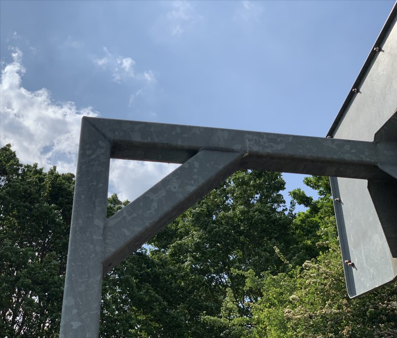triangle used for basketball hoop