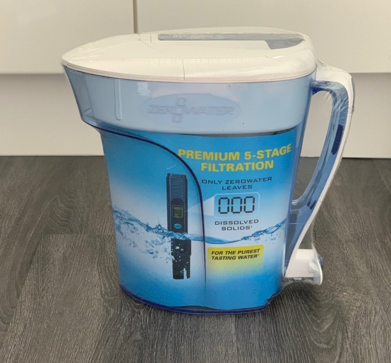 ZEROWATER jug out of the box but still wrapped