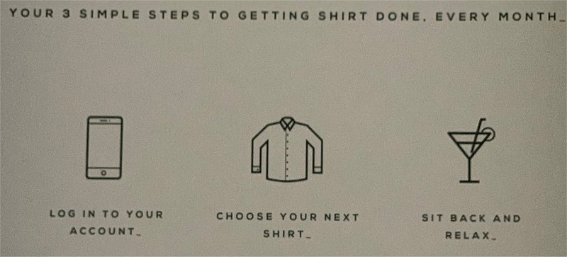 shirt subscription steps