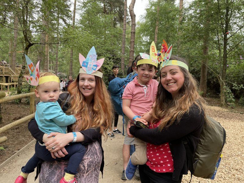 BeWILDerwood Cheshire hats made from the craft activity