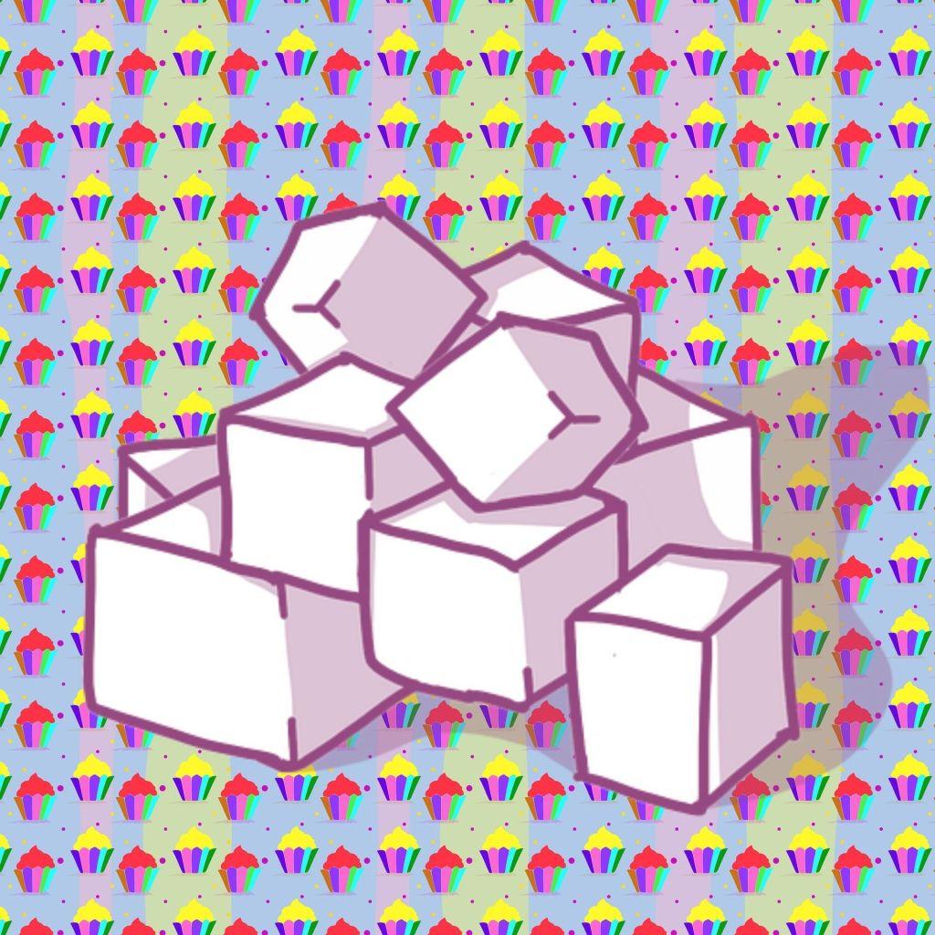 sugar cubes against desserts