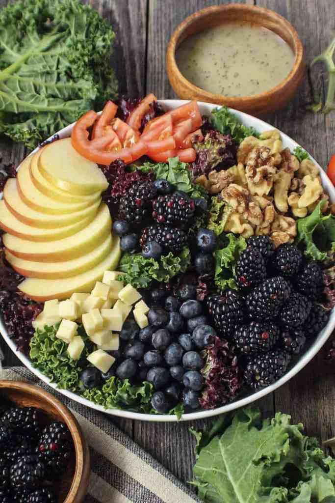 apple berry walnut salad