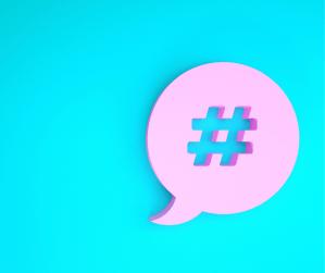 Hashtag word bubble