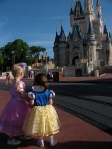 Gazing at Cinderella Castle