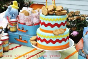 ANIMAL PARTIES: BOY PARTIES: GIRL PARTIES: CHARACTER PARTIES: The Dumbo Party by Where the Green Grass Grows Designs