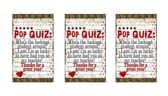 photo relating to Popcorn Teacher Appreciation Printable known as Absolutely free Trainer Appreciation Guidelines Uncomplicated \