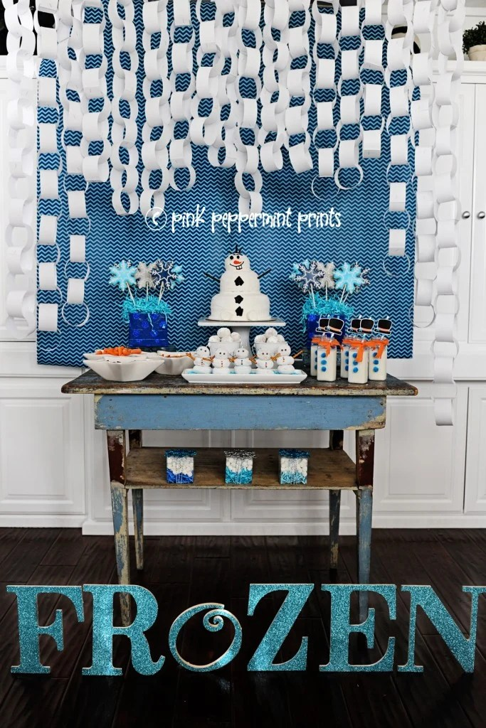Frozen Birthday Party Decorations : Frozen Party Ideas