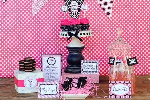 GIRL PARTIES: PIRATE PARTIES: The Pink and Black Ahoy Matey Pirate Girl Printable Party Collection