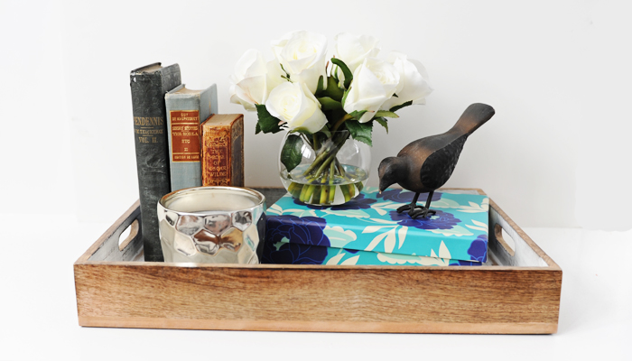 Interior Design DIY: How to Style a Tray for Your Coffee Table or Shelf