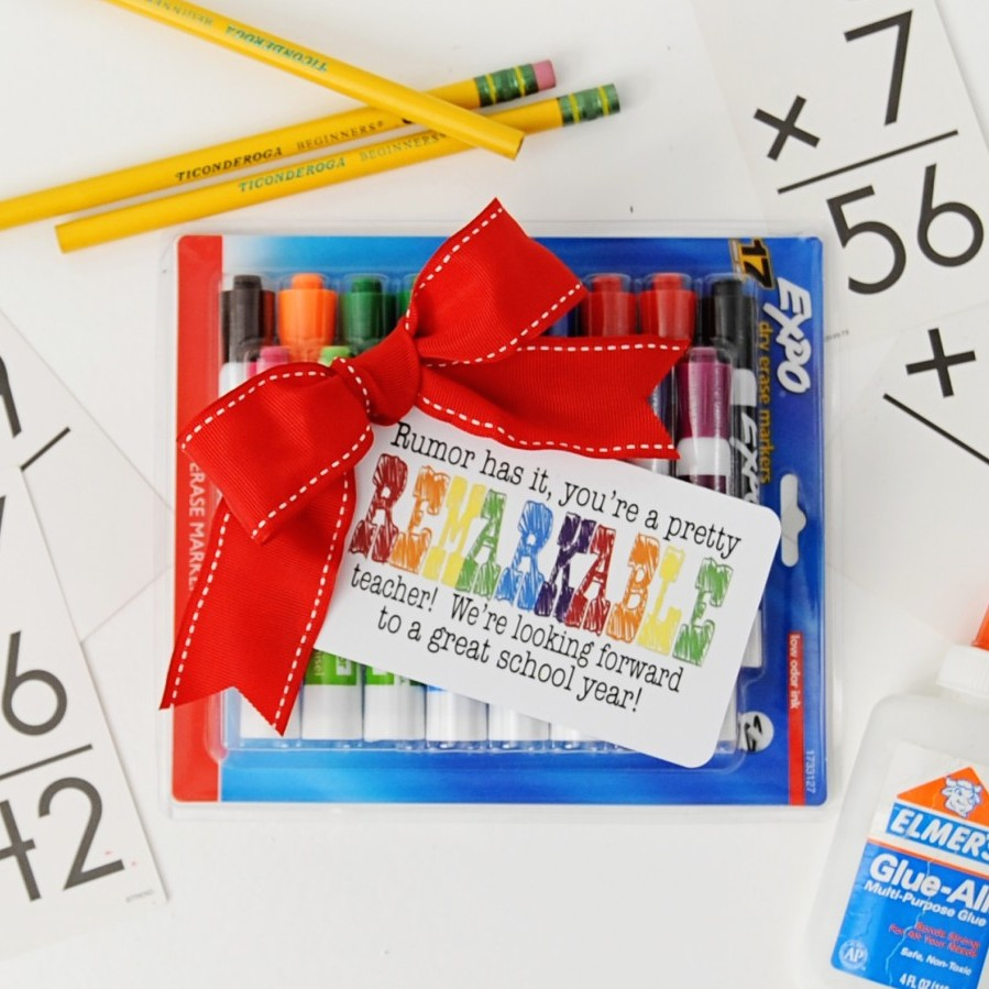 "Free Back to School / Meet the Teacher Printable: ""You're a Remarkable Teacher"""