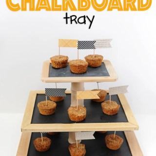 Diy chalkboard tray