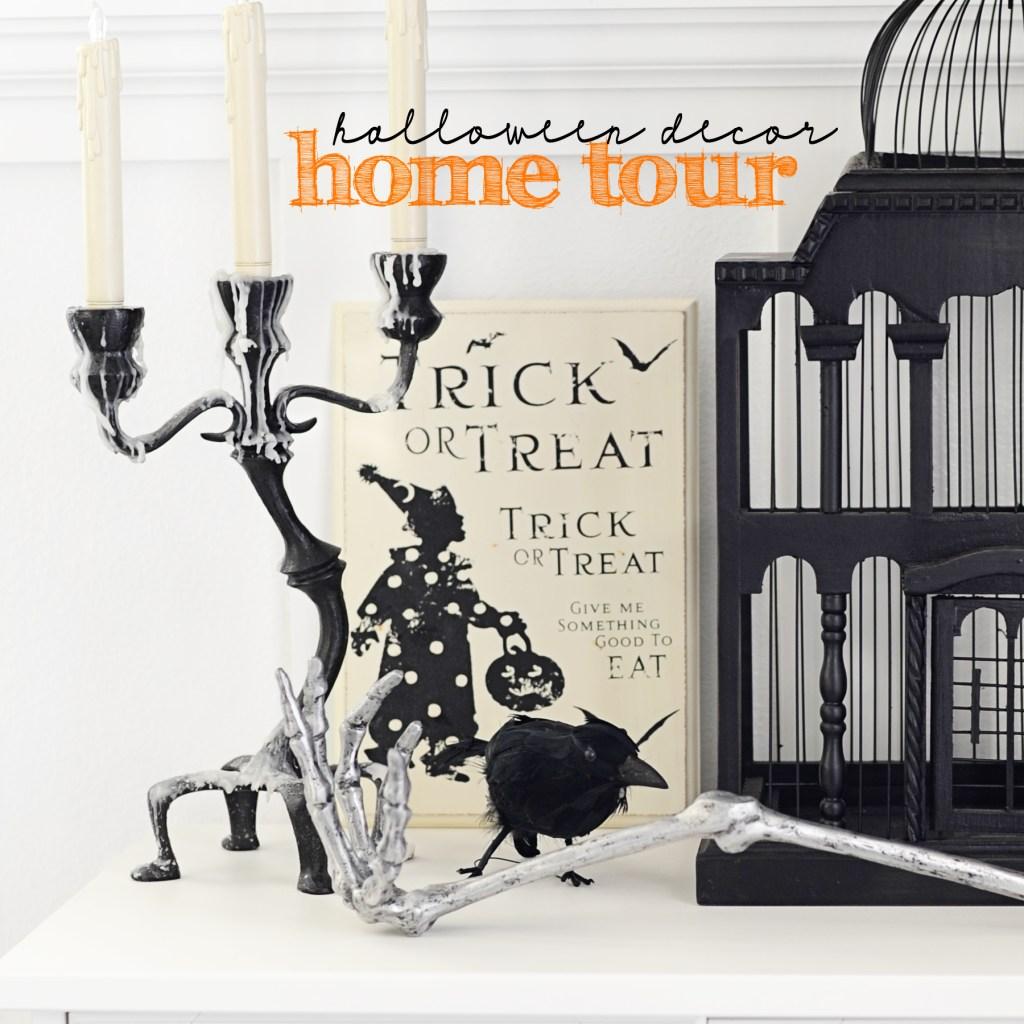 halloween decor home tour hader image copy