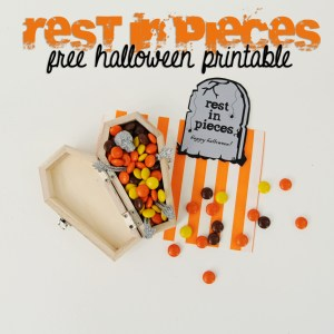 Free Printable: Halloween: Rest In Pieces