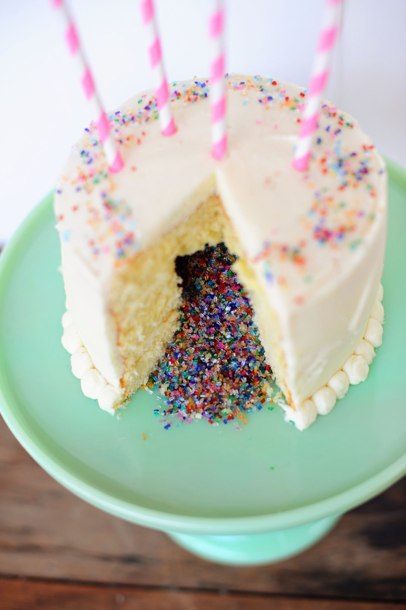 Confetti Cake Sprinkle Filled Cake Diy The Perfect Cake