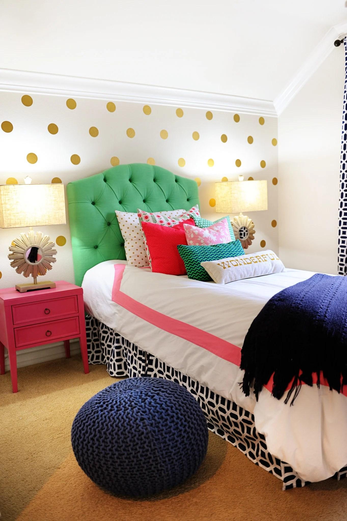 Tween Girl Bedroom Preppy Design / Decor Ideas (Pink, Navy ... on Tween Room Ideas Girl  id=29533