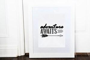 Adventure awaits framed