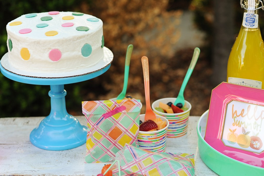 oh joy target style summer party cute fun end of school year party cake header
